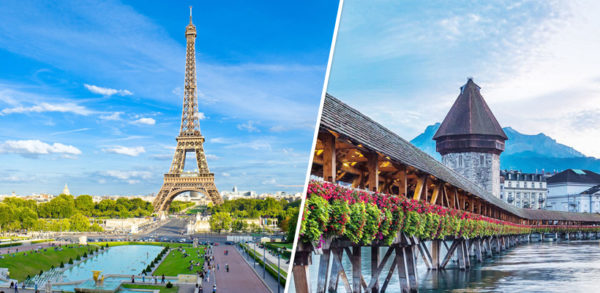 paris switzerland holiday packages